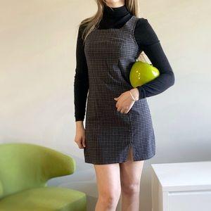 Vintage gingham/ tartan 90s Mini dress.